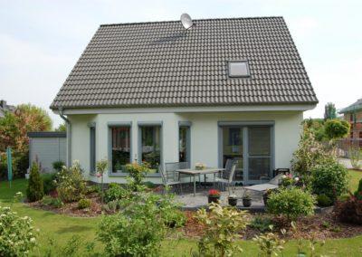 Haus mit Designrollladen