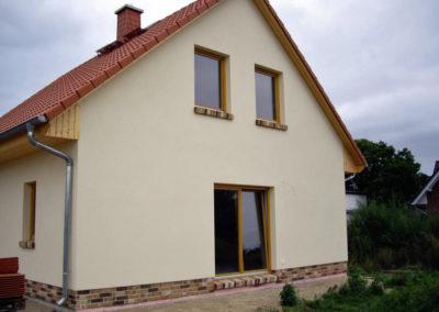 Haus mit Klinkersockel
